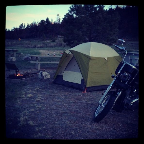 Campsite in Wyoming