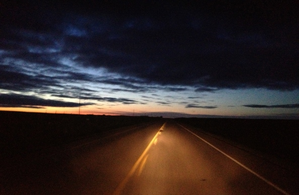Sunrise, on the Road back to Saskatoon
