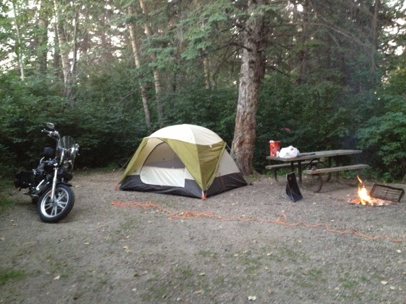 My campsite during my 2 week stay in the Deer