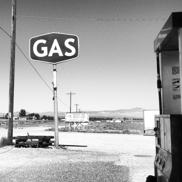 gas stop in middle of nowhere, Nevada