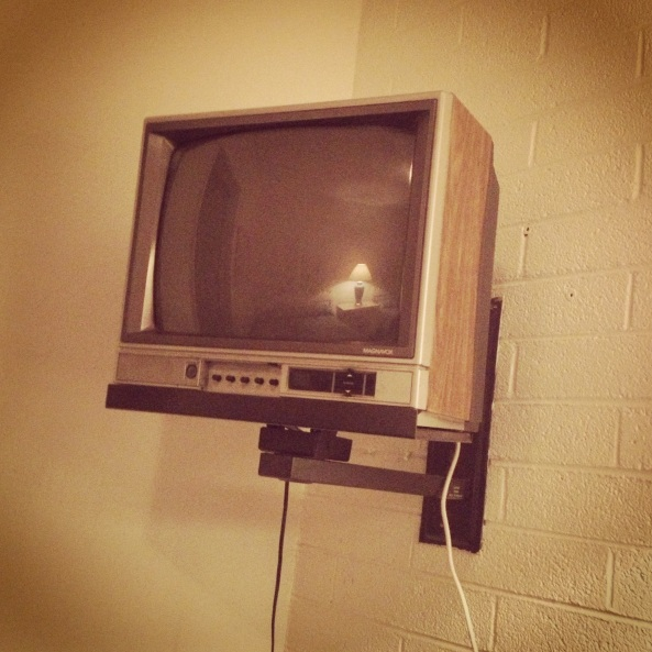my super awesome motel tv, circa 1978 perhaps?